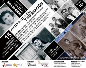 15 aniversario de la Asociación para la Recuperación de la Memoria Histórica (ARMH)