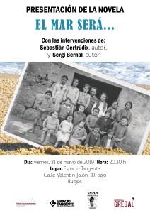"""Presentación de la novela """"El mar será…"""" de Sebastián Gertrúdix y Sergi Bernal"""