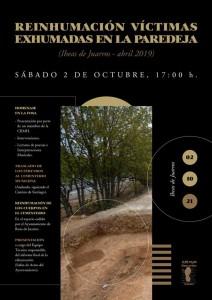 Reinhumación víctimas exhumadas en La Paredeja