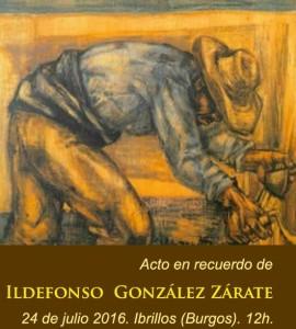 Homenaje en Ibrillos a Ildefonso González Zárate