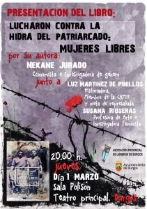 """Presentación del libro """"Lucharon contra la hidra del patriarcado: Mujeres Libres"""" de Nekane Jurado"""
