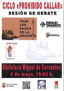 """""""Prohibido Callar"""". Charla-debate en la biblioteca Miguel de Cervantes"""