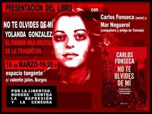 """Presentación del libro """"No te olvides de mí: Yolanda González, el crimen más brutal de la Transición""""."""